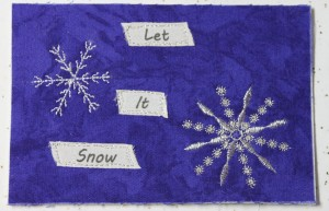 snowflake postcard text