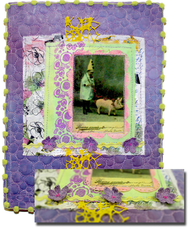 pigs and posies collage