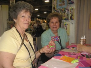Lorraine Drzymala and Yvette Lapete of<br>Knits & Bolts ~ New Haven, CT