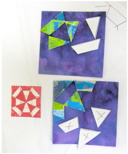 arrange-and-glue-x-marked-pieces-on-purple-square