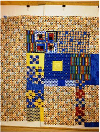 quilt label with blue border image 19 336x445