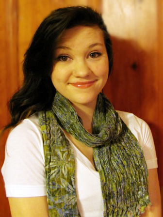 brittany wearing chenille scarf