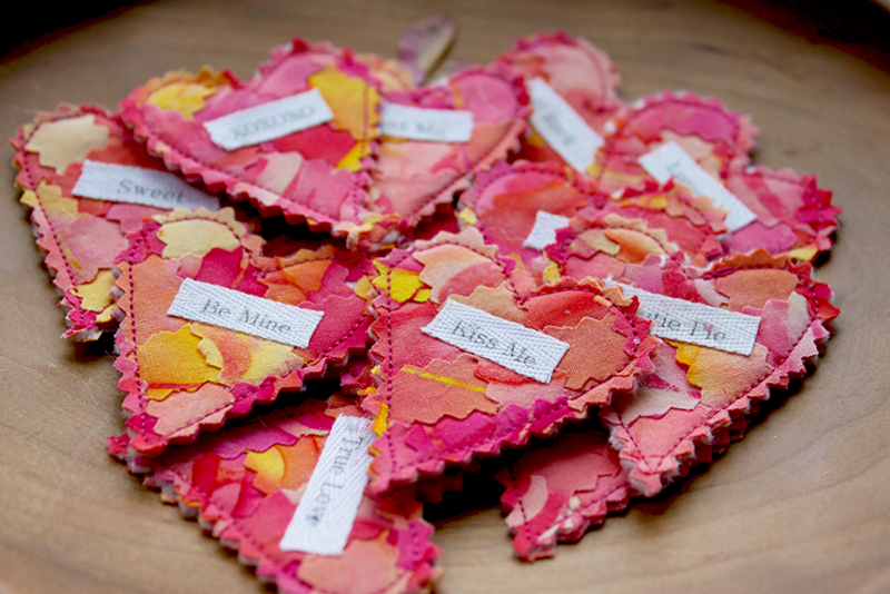 A Plethora of Pinked Hearts - Conversation Hearts