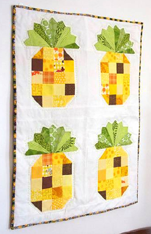 Free Quilt Project Pineapple Wall Hanging Havels Sewing