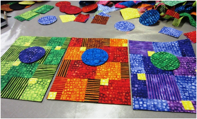 Start with circles from scraps