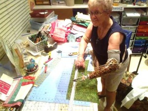 Joann creating in her studio.
