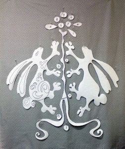 These are what your dancing rabbit applique shapes will look like. (Photo: Terry White)