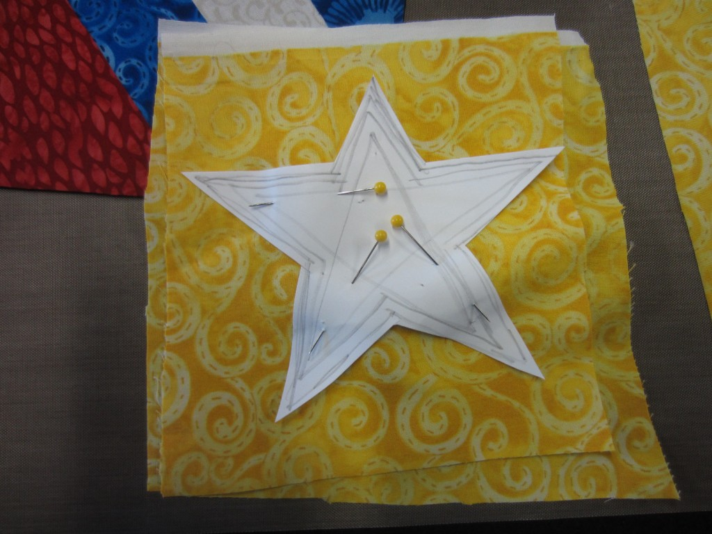 Stars to go on summer flags DIY craft projects