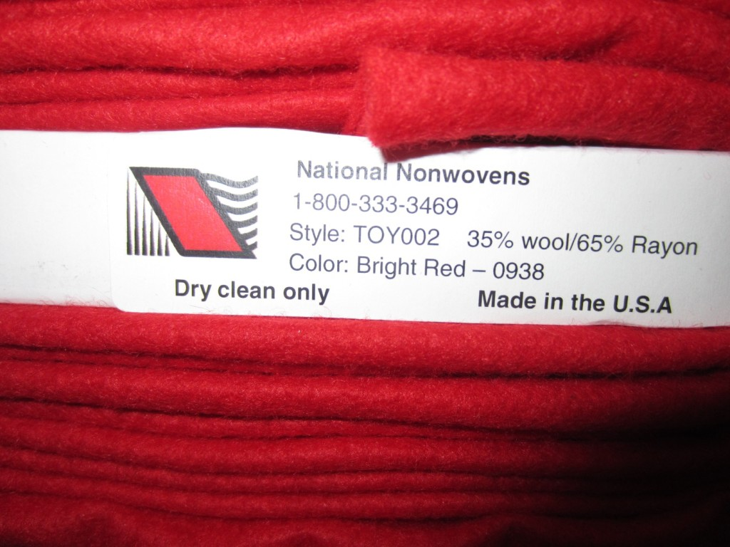 Sewing fabric bolt info