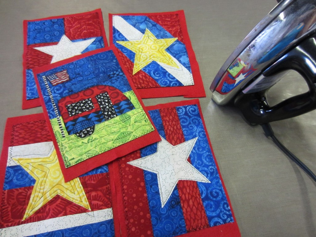 Summer flags ready for the sewing machine