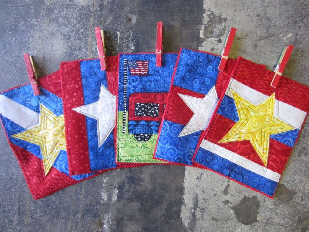 Five flags made from summer craft ideas