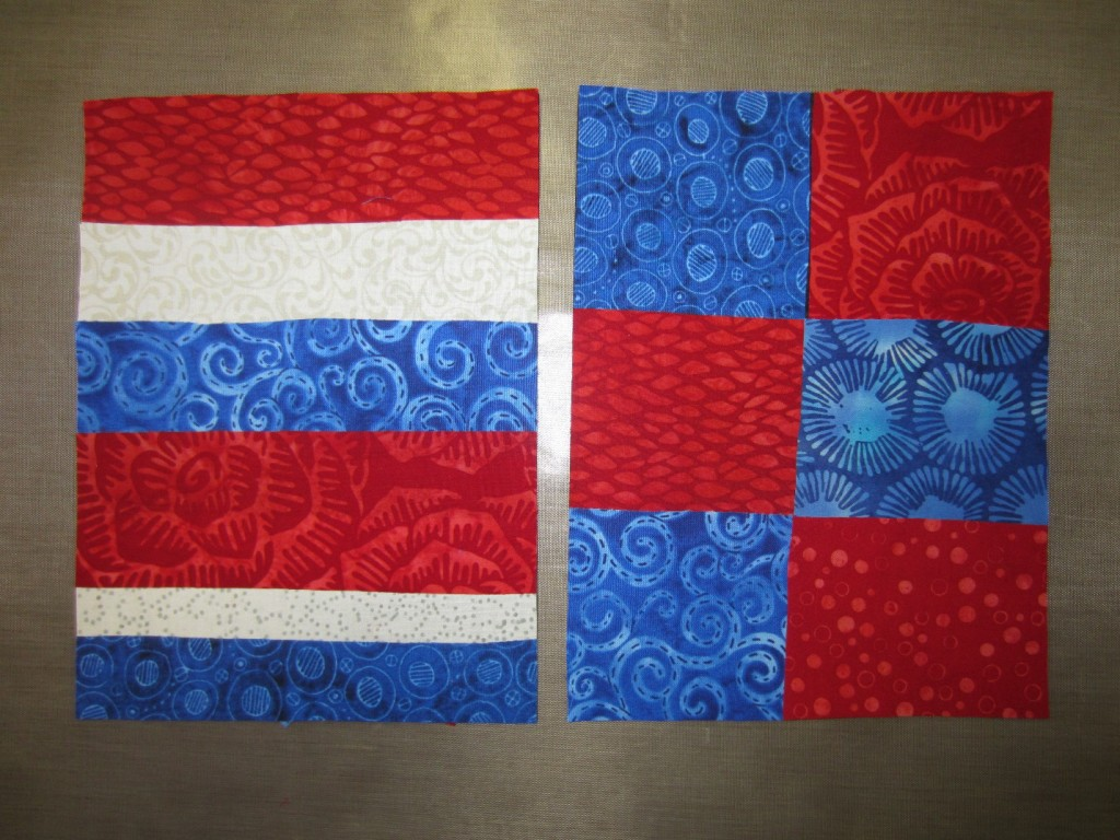 Background of squares for summer flag project