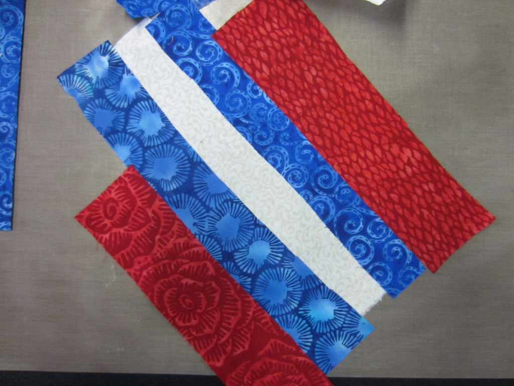Fabric strips for a summer flag