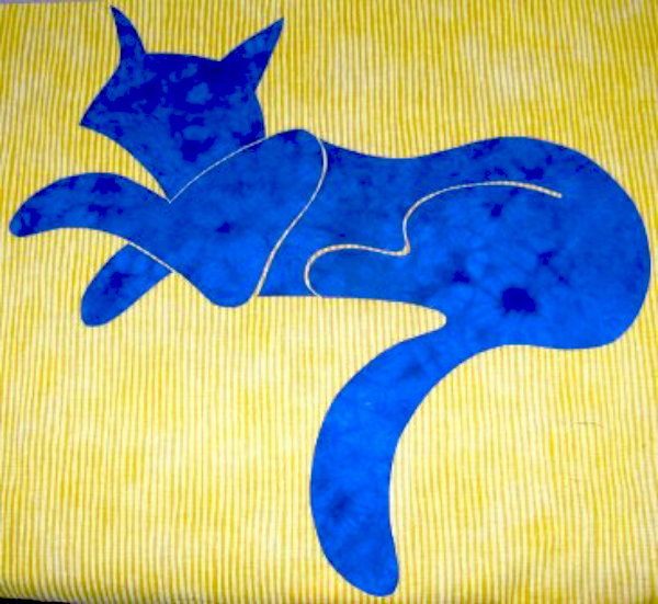 05-double-fused-applique-fuse-blue-cat-to-yellow-fabric