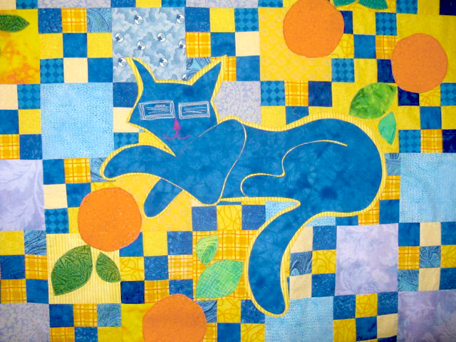 10-double-fused-applique-finished-blue-cat-applique-quilt